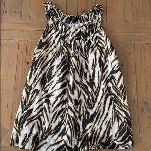 Talbots zebra print sleeveless blouse